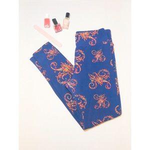 LuLaRoe One Size Blue Leggings